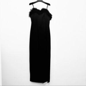 𝒱𝒾𝓃𝓉𝒶ℊℯ Midnight Glo Black Evening Gown sz 6